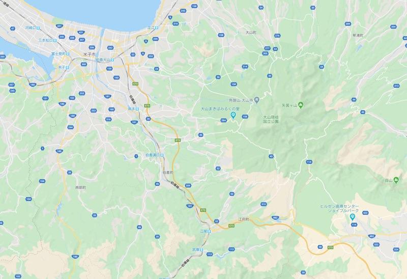 ツーリングマップルとグーグルマップの同地域を比較