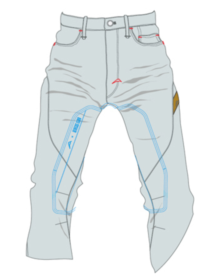 クシタニとライダースクラブのコラボ商品のレッグヒートガードは遮熱効果が高い