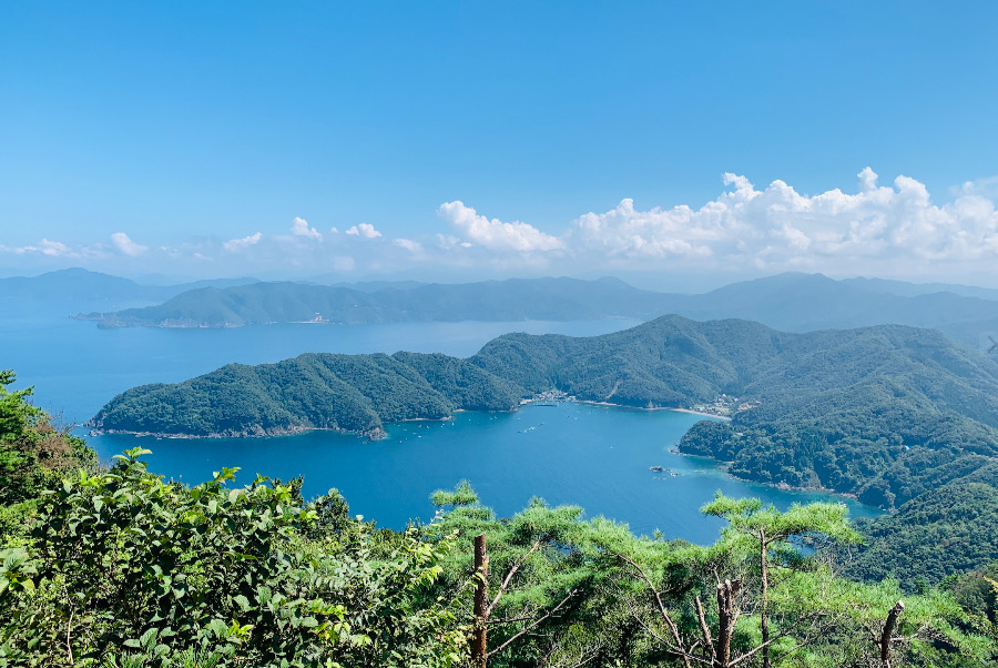 福井県のエンゼルラインからの眺望