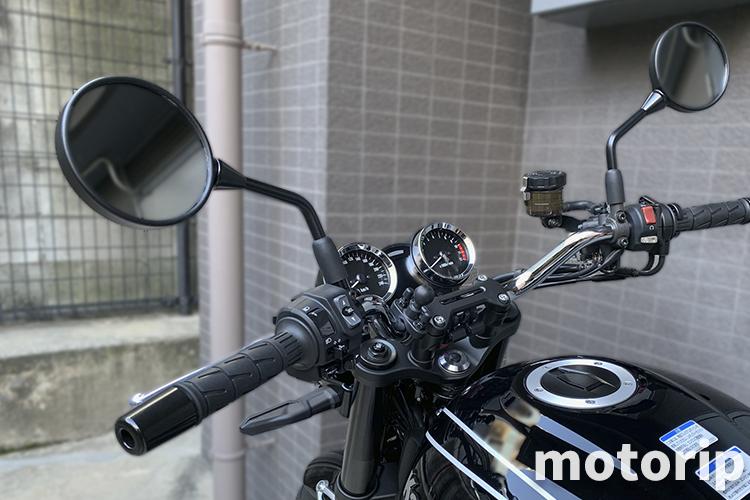 【Z900RS カスタム】幅広すぎるミラーを交換|W800 Street(Cafe)純正ミラー