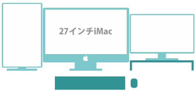 iMacにピボットディスプレイ