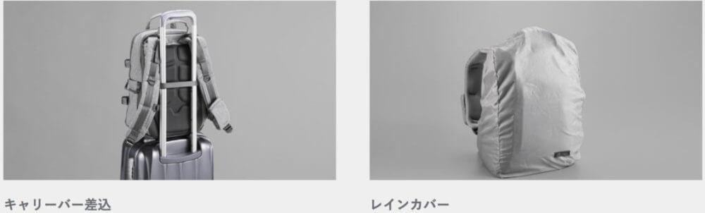 エレコム off toco レインカバーとキャリバー差し込み使用時のイメージ
