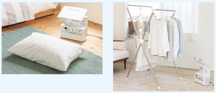 象印 布団乾燥機で部屋干し乾燥にも使えます