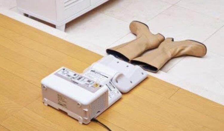 象印 布団乾燥機でブーツの乾燥もできます